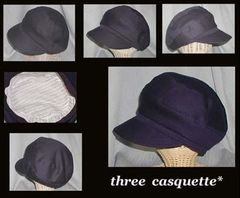 【紙】Three Pieces Casquette パターン