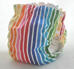 サイドスナップ(パンツ型)布おむつカバー(USA rainbow)