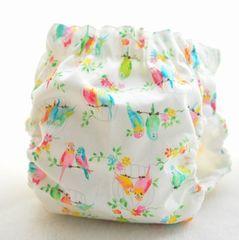 サイドスナップ(パンツ型)布おむつカバー(小鳥3)