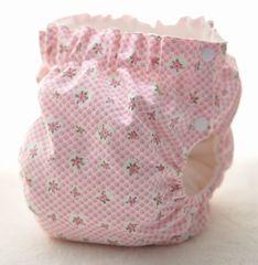サイドスナップ(パンツ型)布おむつカバー(小花3)