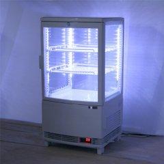 新品送料無料4面冷蔵ショーケース63㍑前開きLED