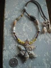 Canarium urceus TOP Oliva Shell Necklace