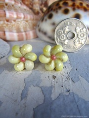 Mongo Shell Flower pin pierce No,12