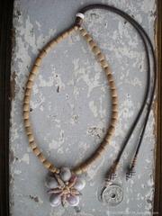 Cowry Mitrella Purple TOP Necklace