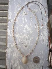 Cowry Top Zakuro Shell Necklace