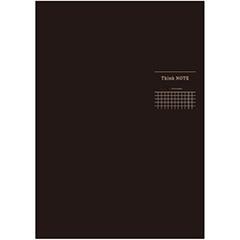 ナカバヤシ ロジカル・シンクノート 糸綴じノート・A4 /方眼5mm ブラック/グレー罫