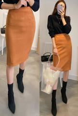 カラーバリエーションストレッチ有スエードHラインスカート全9色NO.8787