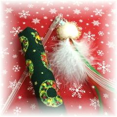 ☆期間限定☆《クリスマス対応》30cm回転棒じゃらし&キッカーセット♪(1316)