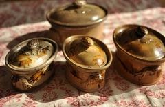 【2380】フランス アンティーク 陶器製 テリーヌポット