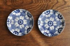 【2293-B】印判 桜の柄の豆皿