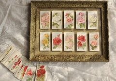 【2389-⑦】イギリスアンティーク 薔薇のシガレットカード 50枚セット