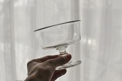 【1919】19世紀 吹きガラスのコンフィチュールグラス  美品