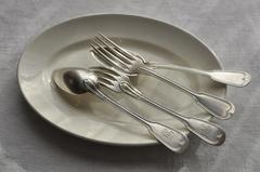 【1926】クリストフル フィドルパターン フォーク&スプーン ディナーサイズ・サーブ用