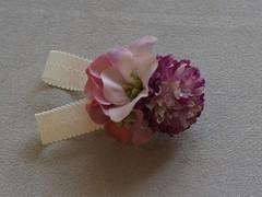 【送料込】お花のバレッタ(PL)