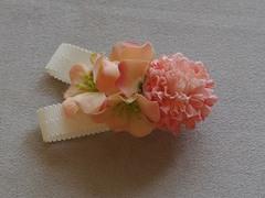 【送料込】お花のバレッタ(PK)