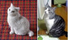 モデル猫毛人形〈単色〉(オーダー商品)