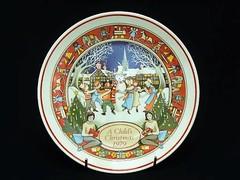 ウェッジウッド クリスマスマスプレート 1972年