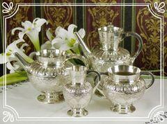 未使用!ヴィクトリア時代のコーヒー&ティーポットセット ウォーカー&ホール