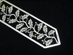 アールヌーボースタイル 純銀のしおり(ブックマーク)