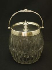 ヴィクトリア時代|カットガラスのビスケットバレル