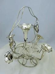 アールヌーボー 朝顔モチーフのイパーン(花瓶)