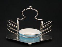 アールデコ 天使みたいな形のトーストラック(水色のバター皿付き)