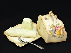 大人可愛いサーモンピンクのドーム付きチーズディッシュ+チーズスクープ