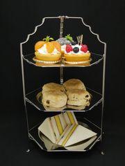 完品!憧れのアフタヌーンティー三段ケーキスタンド 折りたたみ式
