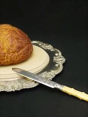 アールヌーボー 植物モチーフのブレッド/ケーキナイフ