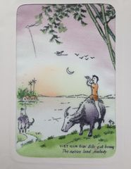 ベトナムの雑貨・布地のメッセージカード