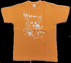 半袖Tシャツ ラララ  アプリコット