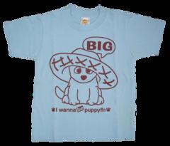 半袖Tシャツ Big & Small  サックス