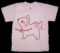半袖Tシャツ wee-wee ピンク