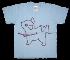 半袖Tシャツ wee-wee サックス