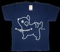 半袖Tシャツ wee-wee ネイビー
