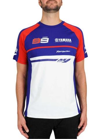 ヤマハファクトリーレーシングコラボ ロレンソTシャツ レッドライン