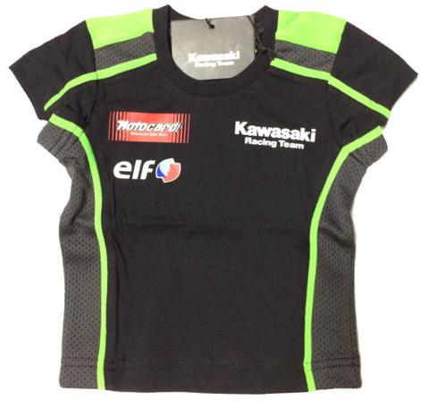 キッズ! スーパーバイクファクトリーkawasakiレーシングTシャツ18 イタリアデザイン