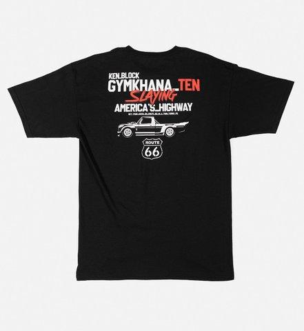 フーニガン ルート66 Tシャツ ブラック