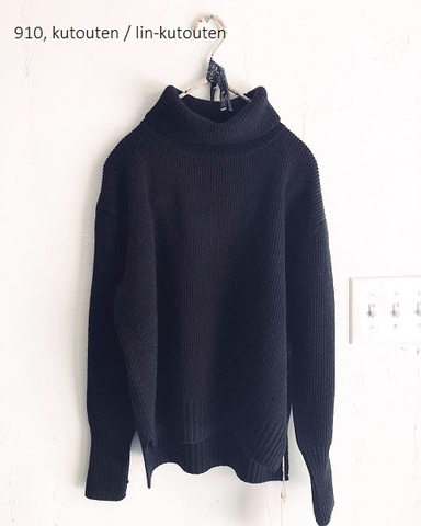 完売*JoeMc comm.arch. Hand Framed High-Neck pullover