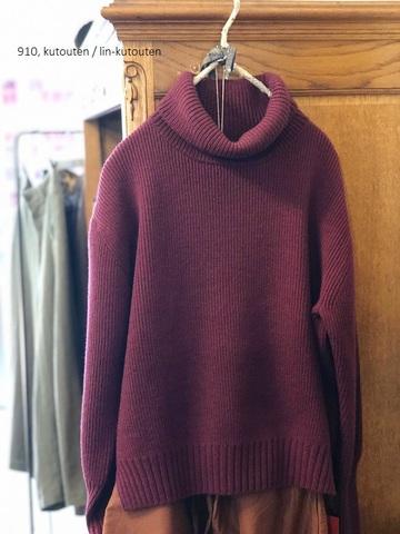 完売*JoeMc comm.arch. Hand Framed High-Neck pullover