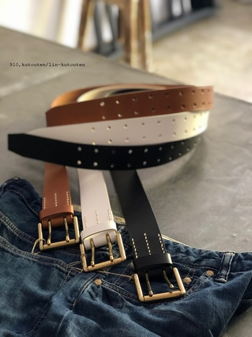 ラスト1点*ICHI Antiquites  Cow Leather Belt