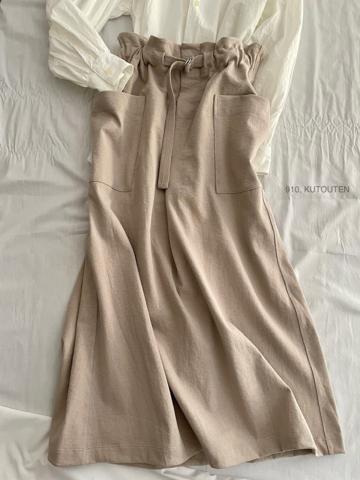 完売*CLOSELY -CLICKPEBBLE  tucked long skirt