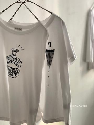 完売*CLOSELY -CLICKPEBBLE   French sleeve print tee