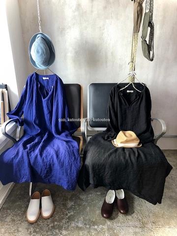完売*ICHI Antiquites 東炊きリネンのふんわりロングドレス