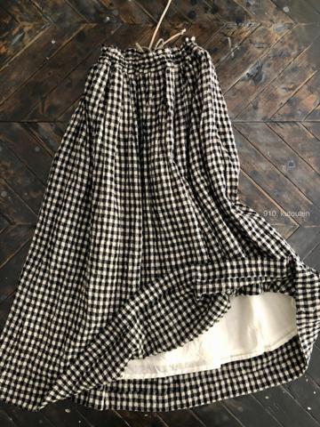 完売*ICHI Antiquites コットンウールのギャザースカート