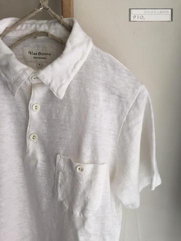 ラスト1点<ユニセックス> Vlas Blomme レギュラー天竺 ポケット付ポロシャツ