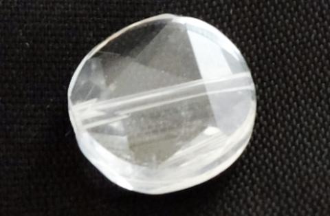クリアクォーツ(水晶)コイン六芒星12mm【1粒売り】