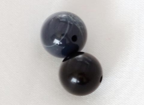 スパイダーウェブオブシディアン10mm玉【2粒売り】