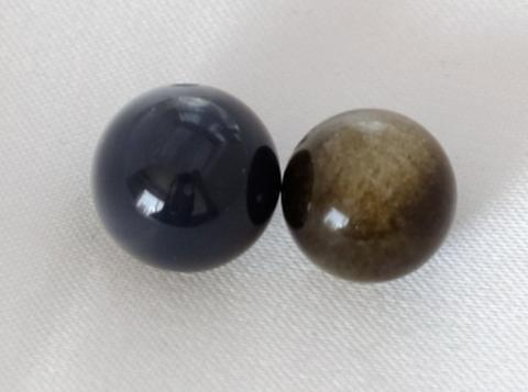 ゴールデンオブシディアン10mm玉【2粒売り】