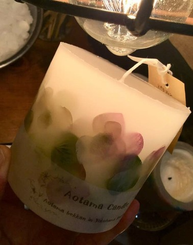 Sold out  オレガノ ハンドメイド ボタニカルキャンドル